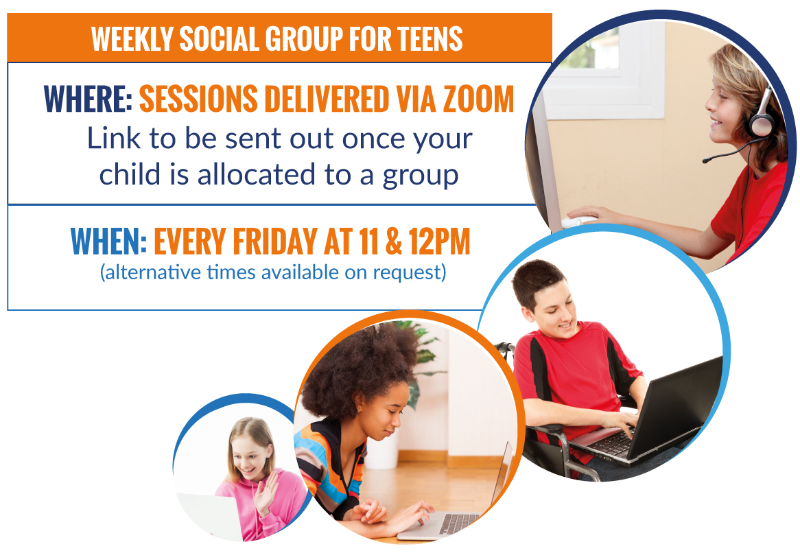 Where: Sessions delivered via Zoom Link to be sent out once your child is allocated to a group  When: Every Friday at 11 & 12pm (alternative times available on request)